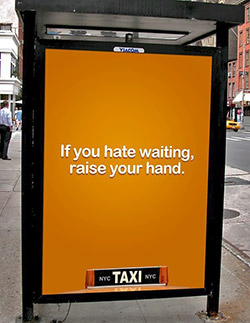 NYC Taxy reklama