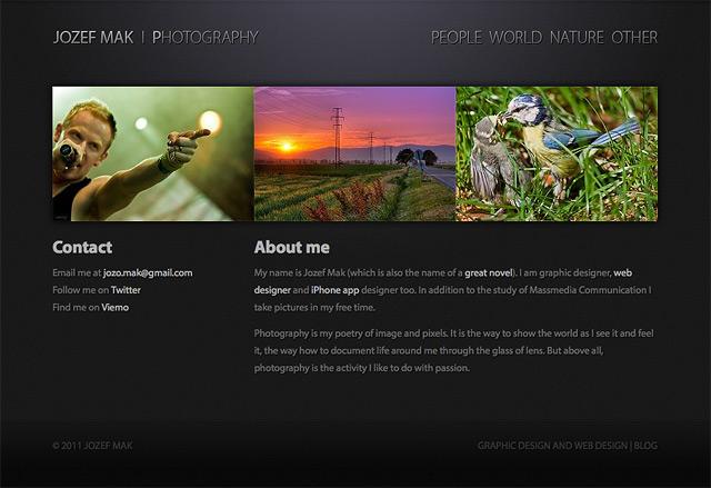 Fotografické portfólio v HTML5 a CSS3
