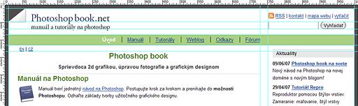 Použitie Guides pri návrhu webu